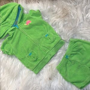 Baby 2 Piece Turtle Terry Cloth Set Carter's 9mo
